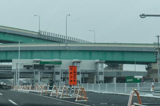 一宮稲沢北ICの料金所の写真
