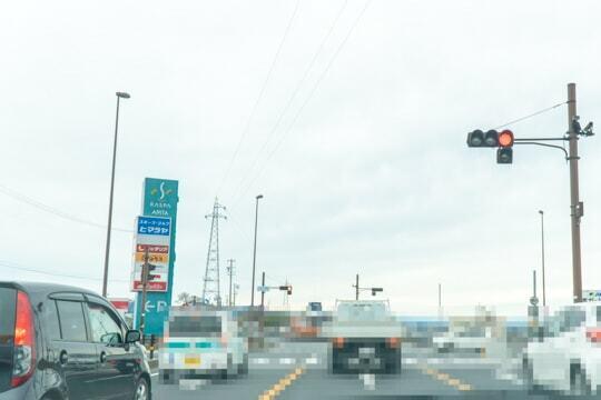 ラスパ御嵩の付近交差点の写真