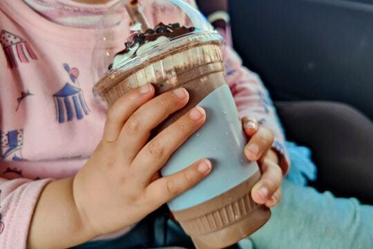 のむソフトクリームチョコクッキーの写真