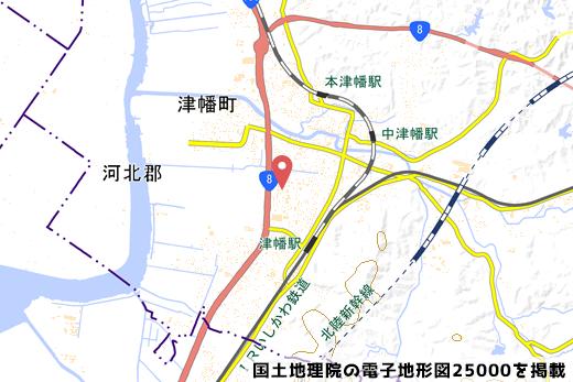バロー津幡店の予定地地図の写真