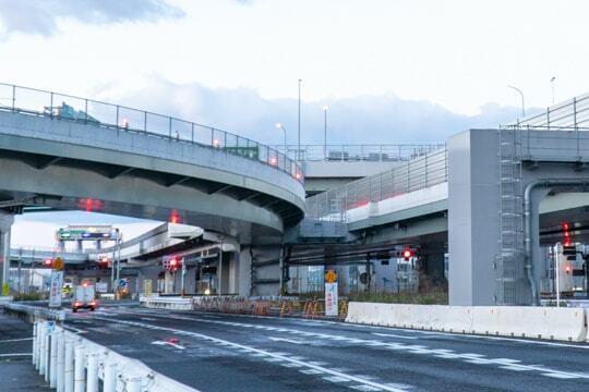 名古屋西JCTの下側からの写真