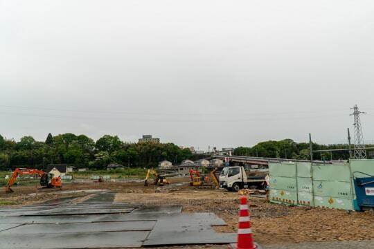 中津川市にオークワ予定地の写真