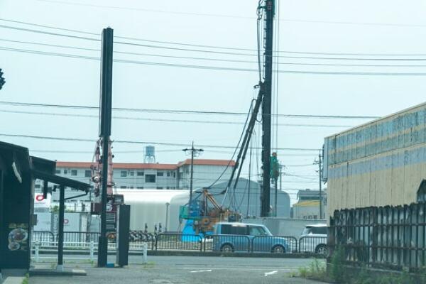 Vドラッグ大垣南店の工事2ヶ月前の写真