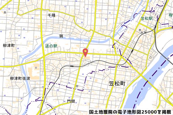 イオン柳津店の位置の写真
