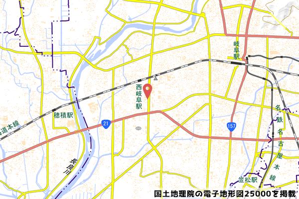 セブンイレブン岐阜市橋店の地図の写真