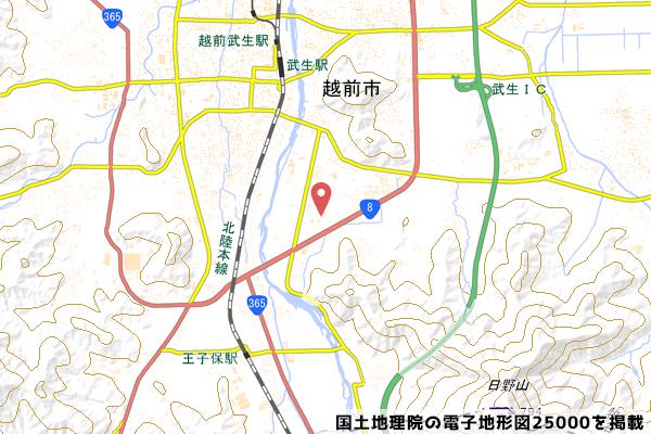 マックスバリュ武生店の地図の写真