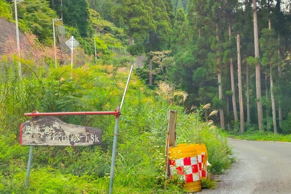 土倉鉱山跡への分岐の写真