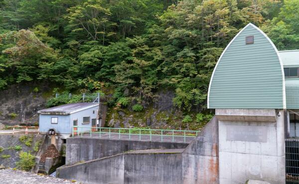 大長谷第四発電所取水堰の写真