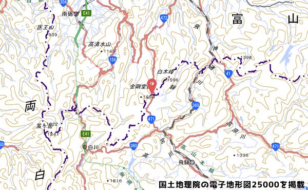 県境の地図の写真